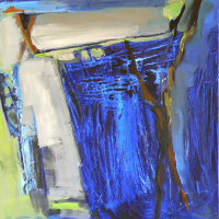 Fenêtre Branches 9 (2012) : Acrylique sur Toile   100 x 100 cm.