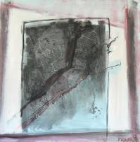 Fenêtre Branches 10 (2012) : Acrylique sur Toile   100 x 100 cm.