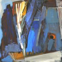 Fenêtre Branches 11 (2012) : Acrylique sur Toile   100 x 100 cm.
