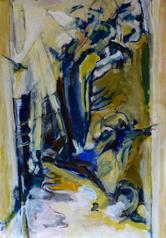 Chemin et Pavillon (2015) : Acrylique sur Papier   110 x 75 cm.