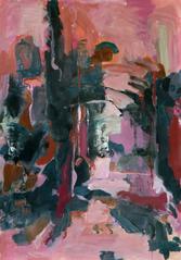 les Arcs (2015) : Acrylique sur Papier   110 x 75 cm.