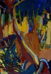 Tilleul et Piquets de Tomates (2015) : Acrylique sur Papier   110 x 75 cm.