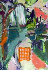 Pommier et Serre (2015) : Acrylique sur Papier   110 x 75 cm.