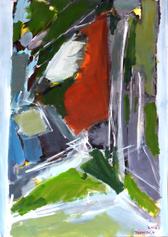 Chemin de la Citerne (2016) : Acrylique sur Papier   110 x 75 cm.