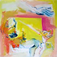 Cirque (1991) : technique mixte sur Isorel   60 x 60 cm.