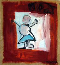 Femme (2010) : technique mixte sur Papier   99 x 98 cm.