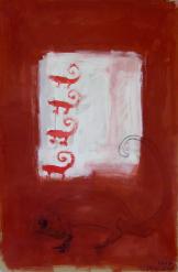 Animal (2010) : technique mixte sur Carton   118 x 78 cm.
