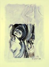 Grand Labyrinth (2009) : technique mixte sur Papier   32 x 24 cm.