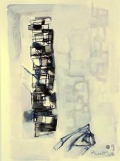 Oeil Droit (2009) : technique mixte sur Papier   32 x 24 cm.
