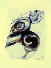 Sinuosité (2009) : technique mixte sur Papier   32 x 24 cm.