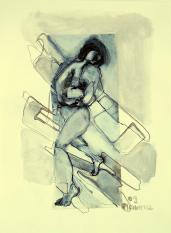 Entrelacs Encorps (2009) : technique mixte sur Papier   32 x 24 cm.