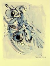 Vague Promesse (2009) : technique mixte sur Papier   32 x 24 cm.