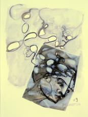Spires (2009) : technique mixte sur Papier   32 x 24 cm.