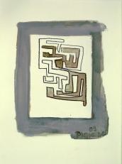 Petit Labyrinth (2009) : technique mixte sur Papier   32 x 24 cm.