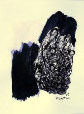 Sommeil (2009) : technique mixte sur Papier   32 x 24 cm.