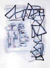Temps perdu (2009) : technique mixte sur Papier   32 x 24 cm.