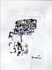 Oublies (2009) : technique mixte sur Papier   32 x 24 cm.