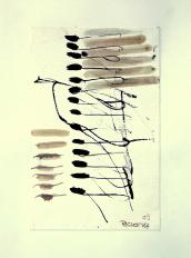 Quatorze (2009) : technique mixte sur Papier   32 x 24 cm.