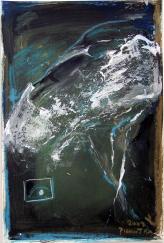 Méduse (2009) : Acrylique sur Papier   42 x 28 cm.