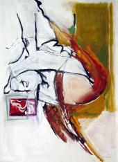 Sans Titre (2010) : technique mixte sur Papier   138 x 100 cm.