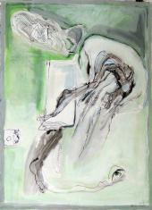Sans Titre (2010) : technique mixte sur Papier   134 x 100 cm.