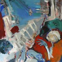 Mélancolie (2014) : Acrylique sur Toile   100 x 100 cm.
