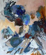 Tout Ange est Terrible (2014) : Acrylique sur Toile   120 x 100 cm.