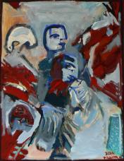 Les Ailes Rouges (2014) : Acrylique sur Toile   116 x 89 cm.