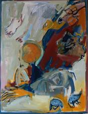 L'Enfant da la Balançoire (2014) : Acrylique sur Toile   116 x 89 cm.