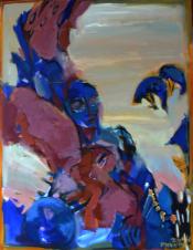Le Désert (2014) : Acrylique sur Toile   116 x 89 cm.