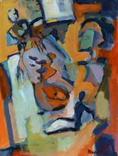 Les Mères (2017) : Acrylique sur Papier   70 x 50 cm.