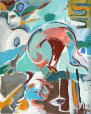 Sans Titre (2013) : Acrylique sur Toile   50 x 40 cm.