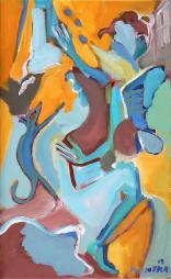 La Promenade (2013) : Acrylique sur Toile   61 x 38 cm.