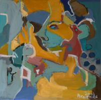 Sans Titre (2013) : Acrylique sur Toile   100 x 100 cm.