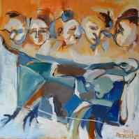 Cinq (2013) : Acrylique sur Toile   100 x 100 cm.