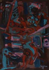 Noir (2019) : Acrylique sur Papier   110 x 75 cm.