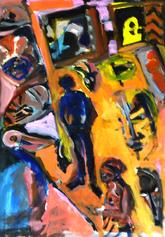 Rue (2019) : Acrylique sur Papier   70 x 50 cm.