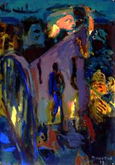 Pont Faidherbe (2019) : Acrylique sur Papier   110 x 75 cm.