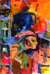 Orphé (2019) : Acrylique sur Papier   110 x 75 cm.