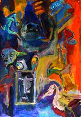 Guet Ndar (2019) : Acrylique sur Papier   110 x 75 cm.
