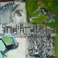 Aperle mon Nom (2015) : Acrylique sur Toile   100 x 100 cm.