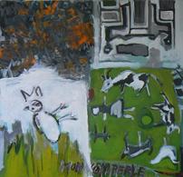 Mon Nom Perle (2015) : Acrylique sur Toile   100 x 100 cm.