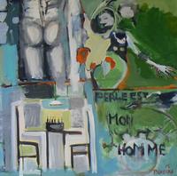 Perle est mon Homme (2015) : Acrylique sur Toile   100 x 100 cm.