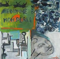 Ne Nomme Pas Mon Perle (2015) : Acrylique sur Toile   100 x 100 cm.