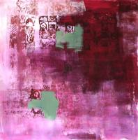 Photomaton 10 (2012) : technique mixte sur Papier marouflé   50 x 50 cm.