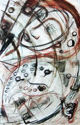 Sans Titre (2003) : technique mixte sur Papier   50 x 33 cm.