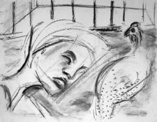 Sans Titre (2003) : Fusain sur Papier   50 x 60 cm.