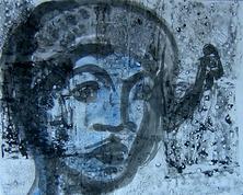 Sans Titre (2003) : technique mixte sur Papier   44 x 56 cm.