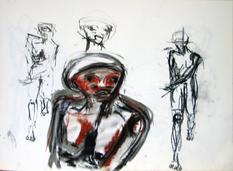 Sans Titre (2003) : technique mixte sur Papier   42 x 57 cm.