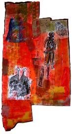 La messagère (2004) : technique mixte sur Papier   130 x 90 cm.
